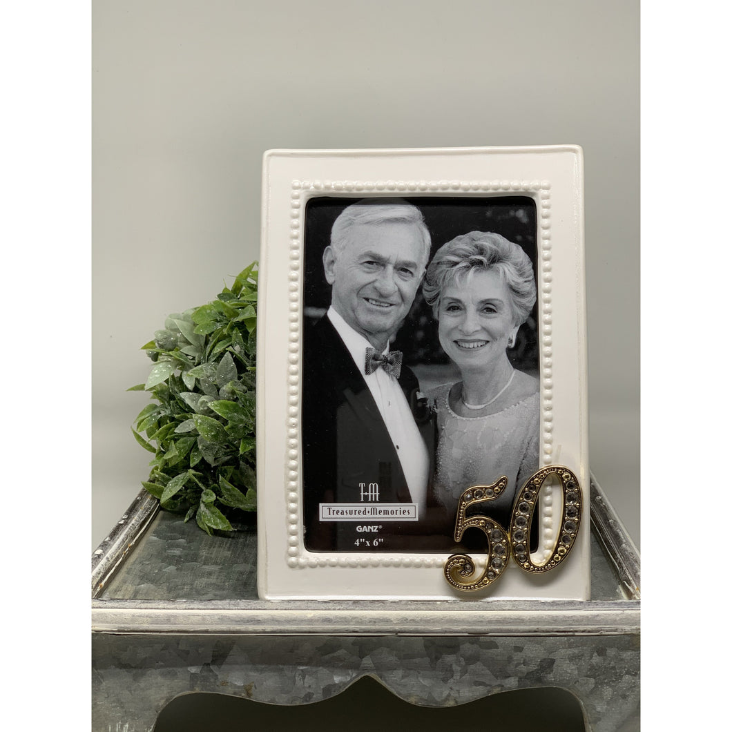 50th Anniversary Porcelain Frame