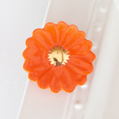 NORA FLEMING ORANGE FLOWER POWER MINI - LIMITED EDITION