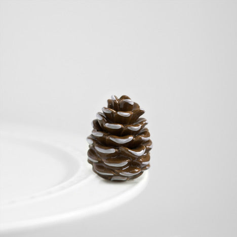 Nora Fleming Brown and White Pinecone mini, pretty pinecone