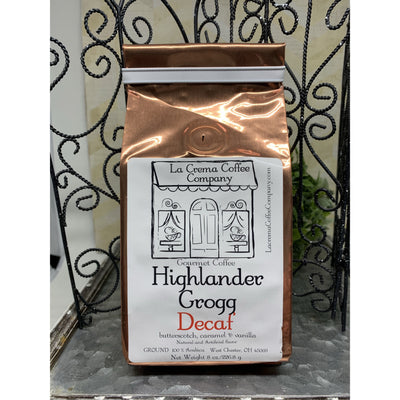 highlander grogg decaf ground coffee -smockingbird's