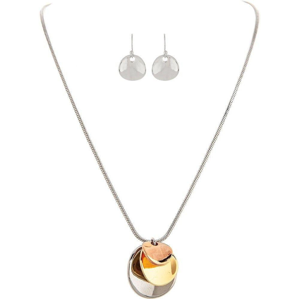 Triple Disc Dainty Necklace