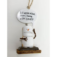 Load image into Gallery viewer, Is it Warm in Here or am I having a hot flash S'mores Ornament - Smockingbird's