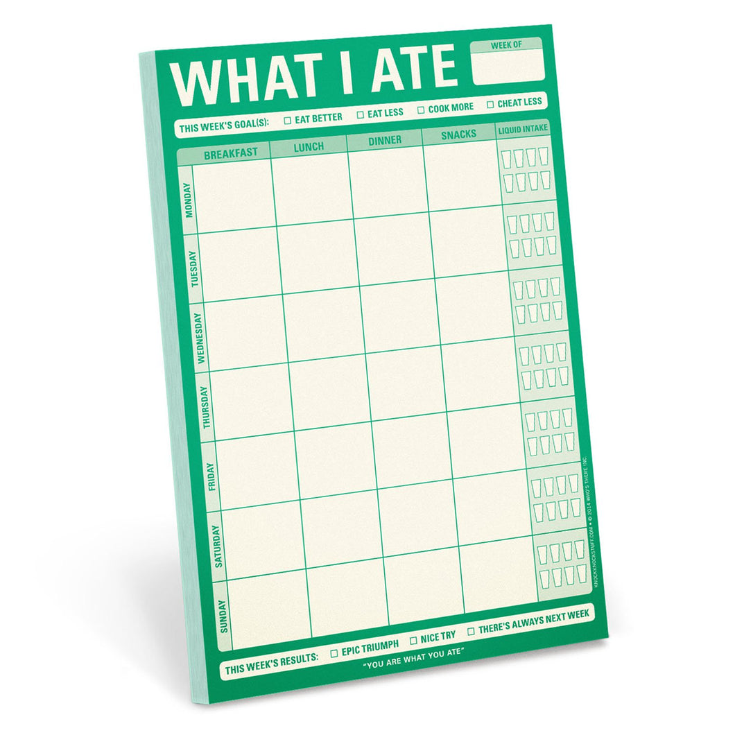 Knock Knock What I Ate Magnetic Notepad - Smockingbird's