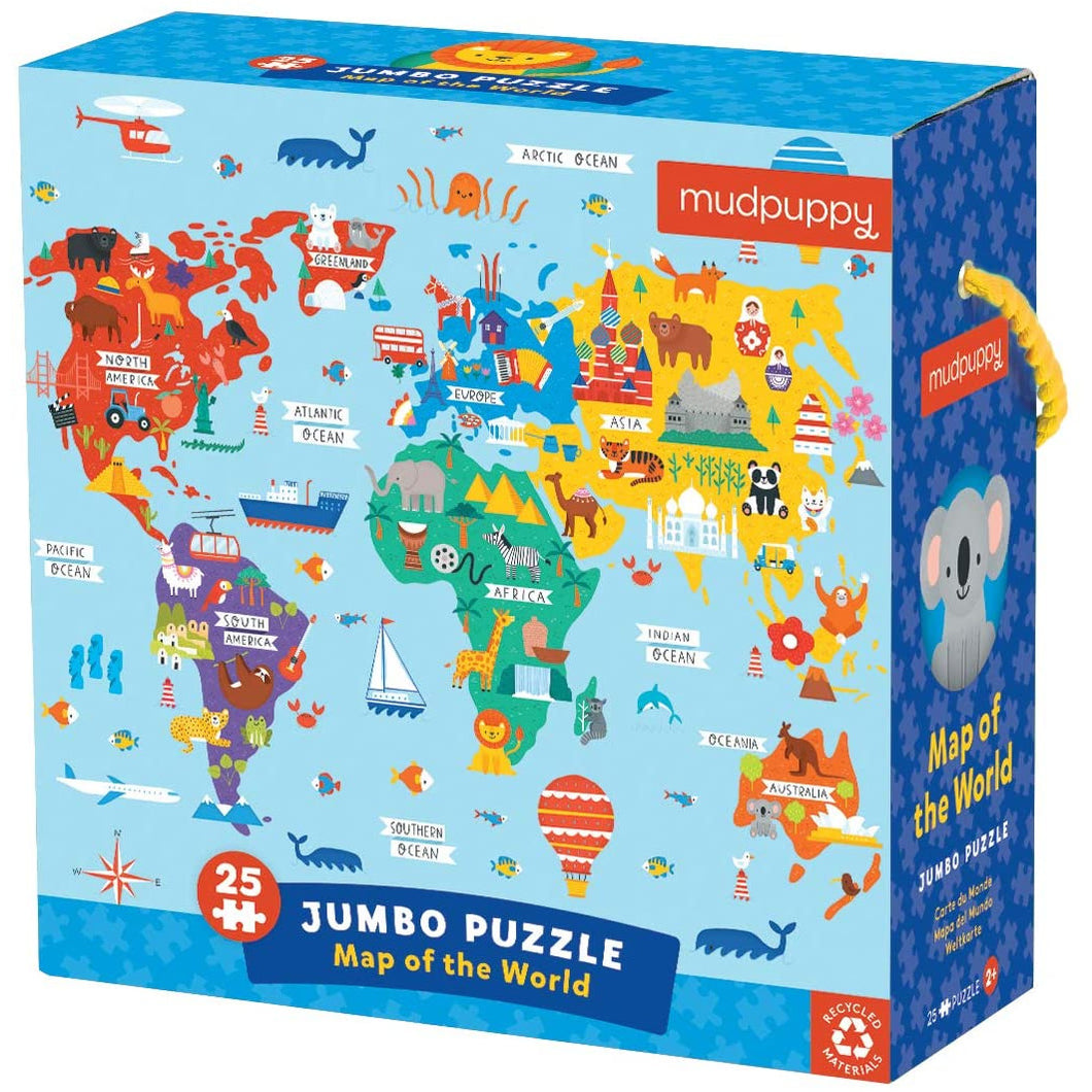 Mudpuppy Map of the World Jumbo Puzzle - Smockingbird's