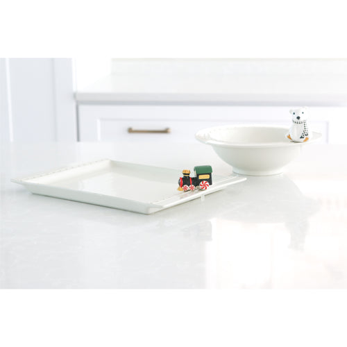 Nora Fleming Rectangle Revamp Platter and Baby Bowl with Minis - Smockingbird's