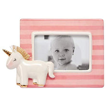 Load image into Gallery viewer, Pink Stripe Unicorn Frame - Smockingbird's