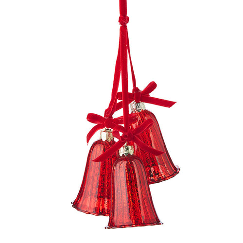 Red Mercury Glass Cluster Bell Ornament - Smockingbird's
