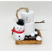 Load image into Gallery viewer, Snowman S'Mores Ornament - Smockingbird's
