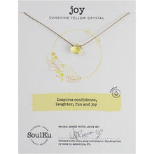 Load image into Gallery viewer, Sunshine Yellow Crystal Soul-Shine Necklace for Joy - Smockingbird's