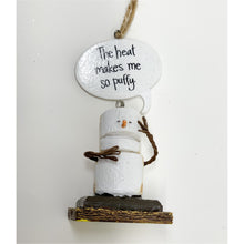 Load image into Gallery viewer, The Heat makes me so puffy S'mores Ornament - Smockingbird's