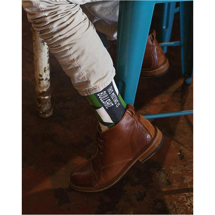This meeting is Bullshit Men's Crew Socks - Smockingbird's