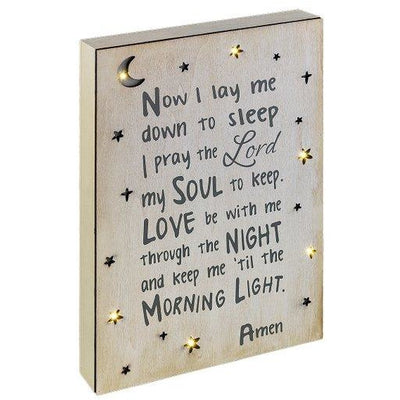 Now I lay me down to sleep light-up plaque - Smockingbird's