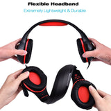 Gaming Headset,TUPELO Xbox One Headset|PS4 Headset|Xbox One Gaming Headset,3.5mm LED Light Wired Stereo Headphone with Microphone for Xbox one/PS4/PC/Laptop/Iphone 8
