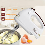 Electric 7 Speed Handheld Food Whisk Blender Home Kitchen Egg Cake Mixer Beater Kitchen Tool