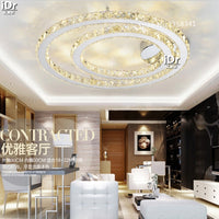 home furnishing lighting LED lighting with remote control room round crystal high quality ceiling lamps Free Shipping