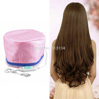 2Pcs Electric Hair Thermal Treatment Beauty Steamer SPA Nourishing Hair Care Cap Free Shipping