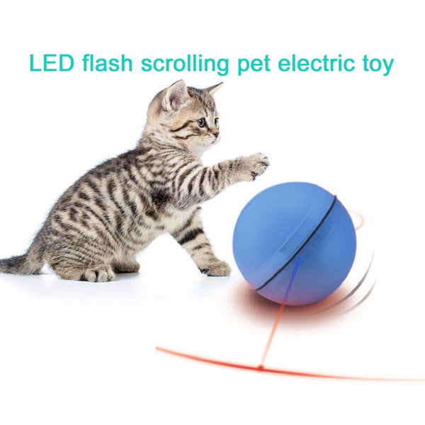 Electric Pet Ball LED Flash Rolling Pet Toys Funny Pet Teasing Toy With Electronic Luminous Light For Cats Dogs Puppys