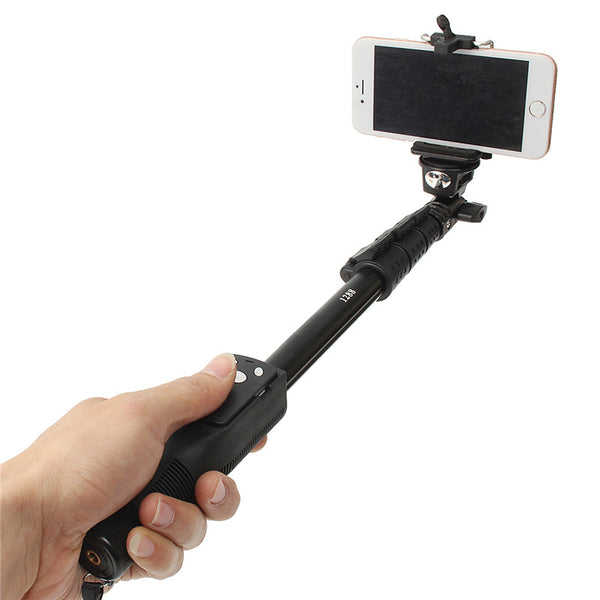 1288 Bluetooth Extendable Selfie Stick Handheld Monopod With Bluetooth Remote Shutter For Gopro Hero For SJCAM For xiaomi yi 4K
