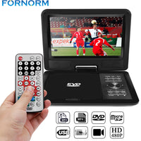 "9"" 720P LCD HD DVD Player 270 Degree Swivel Screen Portable TV Game Radio supported Player with EU/US/UK Plug optional"
