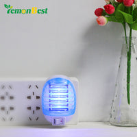 LemonBest 220V EU Plug Night Light with Electric Mosquito Killer use Lamp Insect Pest Bug Zapper Repeller Mini Blue Night Light