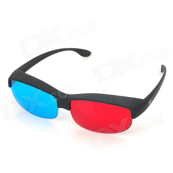 ReeDoon 9869 Anaglyphic Blue + Red 3D Glasses - Red + Blue + Black