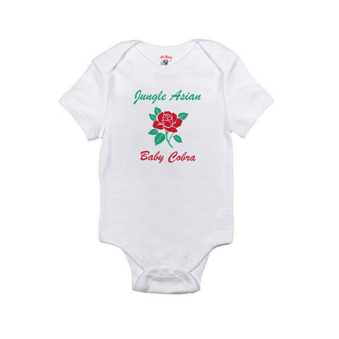 Jungle Asian Baby Onesie (White)