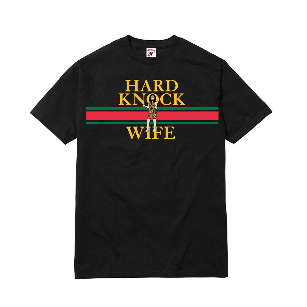 HARD KNOCK WIFE STRIPE TEE (BLACK)