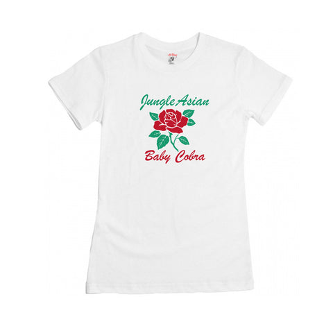 Jungle Asian Womens Tee (Heather White)