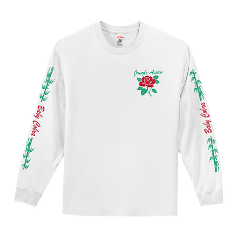 Jungle Asian L/S Tee (White)