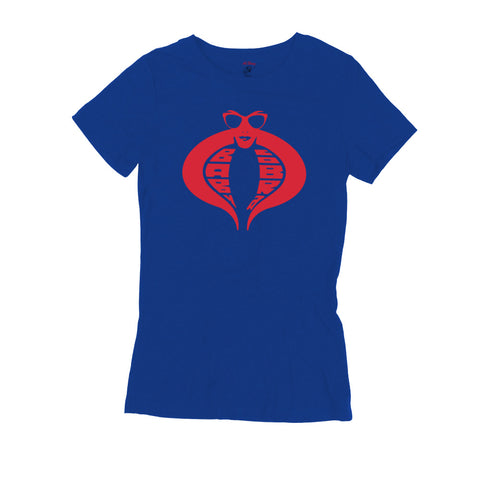 Baby Cobra Womens Tee (Royal Blue)