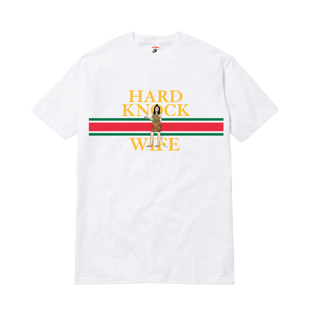 HARD KNOCK WIFE STRIPE TEE (WHITE)