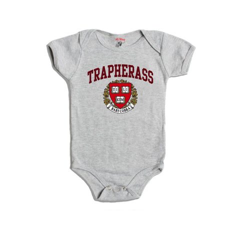 Trap Her Ass Baby Onesie (Heather Grey)