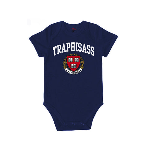 Trap His Ass Baby Onesie (Navy)