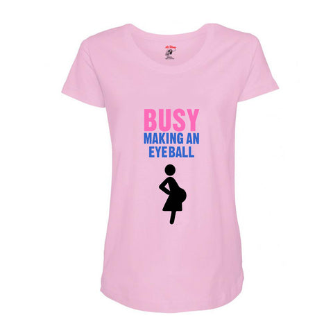 Busy Making An Eyeball Maternity Tee (Pink)