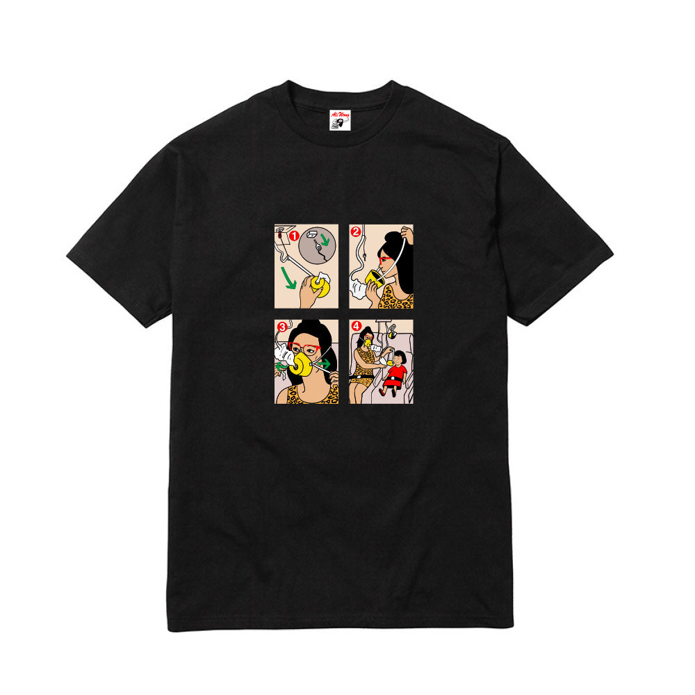 AIRLINE MANUAL TEE (BLACK)