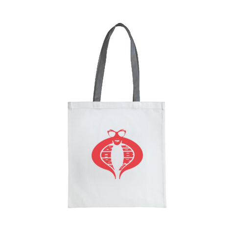 "Baby Cobra 18"" Fashion Tote Bag (White)"