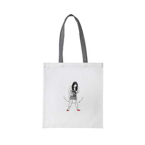"Tai Chi Colonize 18"" Fashion Tote Bag (White)"