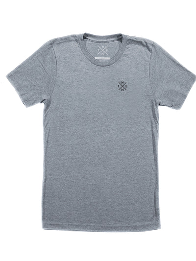 Thenx Heather Grey Tee's (XO Logo)