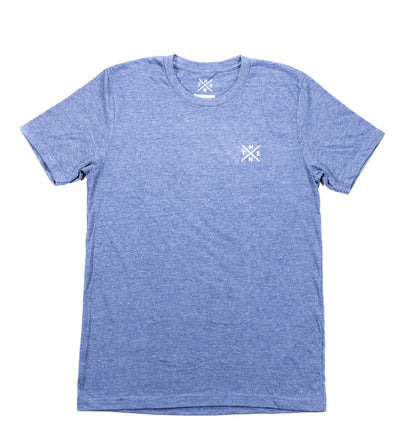 Thenx Heather Navy Tee's (XO Logo)