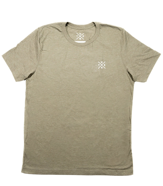 Thenx Heather Olive Tee's (XO Logo)