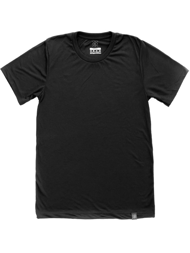 Thenx Plain Viscose Black Tee