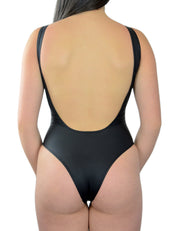 ALL BLACK ONE PIECE - HOAKA SWIMWEAR