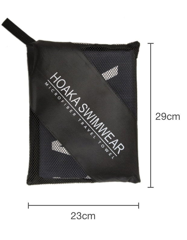 BLACK HOAKA TRAVEL TOWEL - HOAKA SWIMWEAR