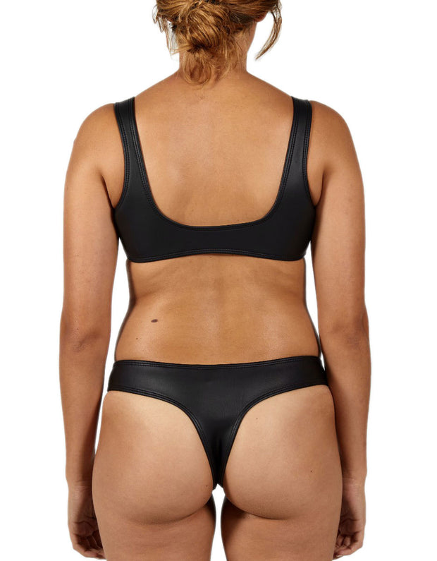 DARK ALL BLACK SET - HOAKA SWIMWEAR