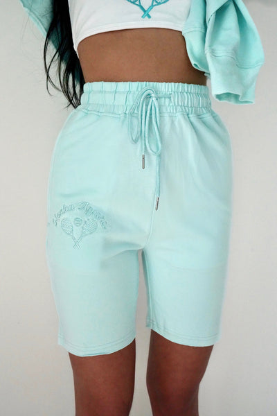 Bleu Tennis Sweat Shorts