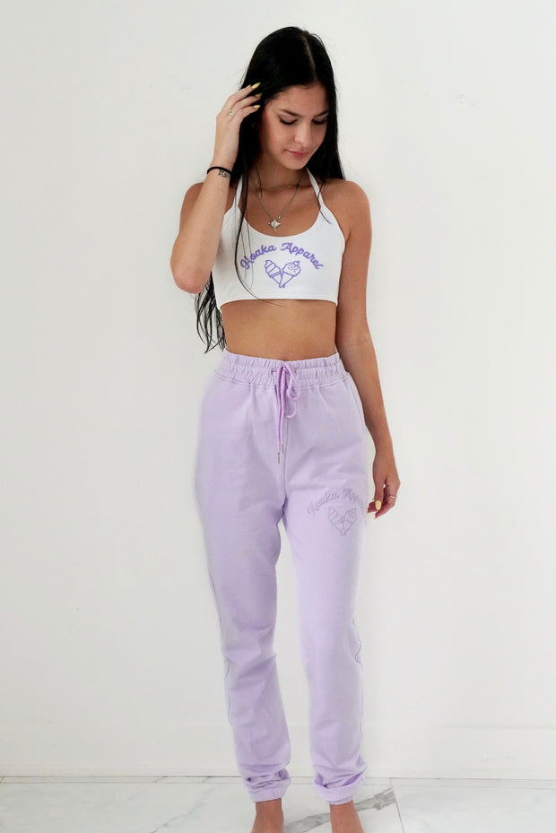 Lilac Ice Cream Joggers