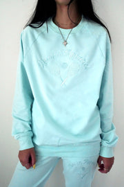 Blue Tennis Crew Neck Sweatshirt