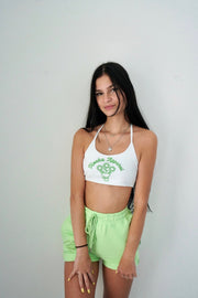 Matcha Flowers Micro Cami Top