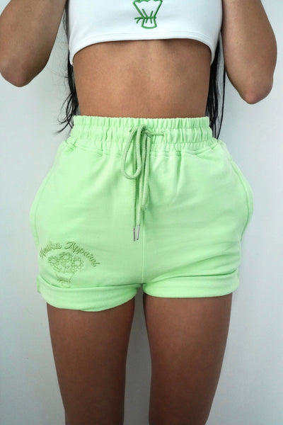 Matcha Fleurs Sweat Shorts