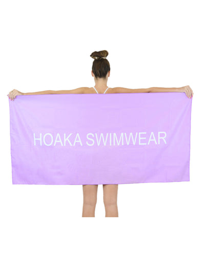 LILAC HOAKA TRAVEL TOWEL - HOAKA SWIMWEAR
